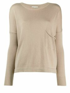 Ma'ry'ya slouch pocket knit jumper - NEUTRALS