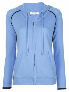 Chinti and Parker piped trim hoodie - Blue