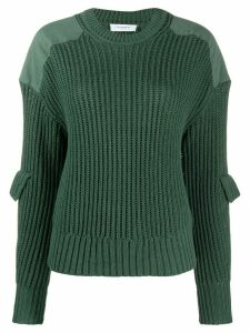Equipment long sleeve ribbed-knit jumper - Green