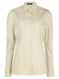 Kwaidan Editions longline poplin shirt - NEUTRALS