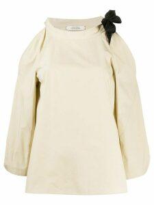 Dorothee Schumacher cold shoulder blouse - NEUTRALS