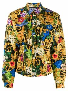 Versace Jeans Couture floral and baroque print shirt - ORANGE