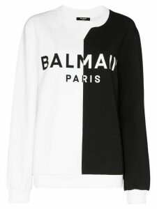 Balmain split design logo sweatshirt - Black