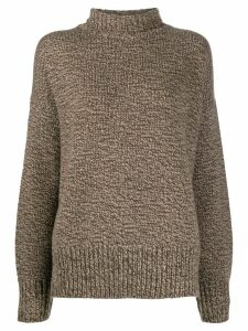 The Row polo neck jumper - Brown