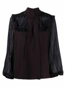 Pinko Marocaine ruffled blouse - Black