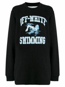 Off-White swimming print sweatshirt - Black