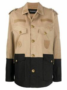 Neil Barrett pocket detail military jacket - NEUTRALS