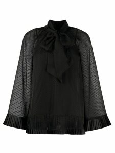 Zimmermann sheer polka-dot blouse - Black