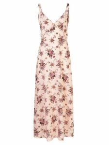 R13 silk floral print dress - PINK