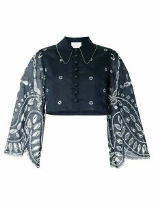 Alice McCall Moonchild cropped lace shirt - Blue