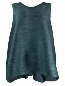 Pleats Please Issey Miyake gathered flare blouse - Grey