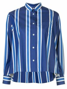 Sacai long sleeved striped shirt - Blue