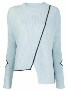 Pinko asymmetric contrast trim top - Blue