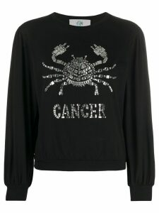 Alberta Ferretti long-sleeve Cancer T-shirt - Black