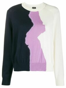 PS Paul Smith colour-block fitted jumper - White