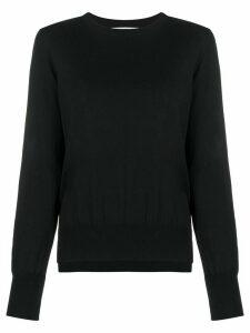 Enföld slit-hem pullover jumper - Black