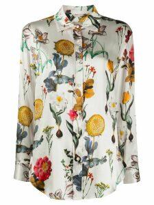 L'Autre Chose silk floral print blouse - White