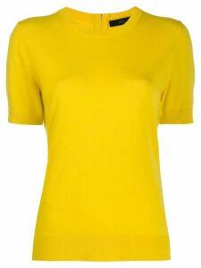 Steffen Schraut zipped knitted T-shirt - Yellow