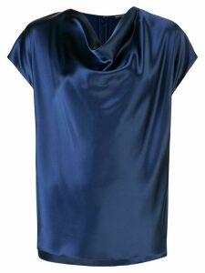 Adam Lippes silk short sleeve blouse - Blue