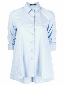 Steffen Schraut oversized ruched-sleeves shirt - Blue