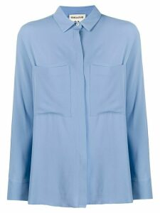 Semicouture patch pocket blouse - Blue