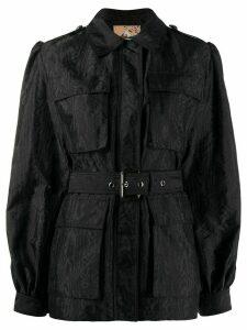 Pinko belted shirt jacket - Black