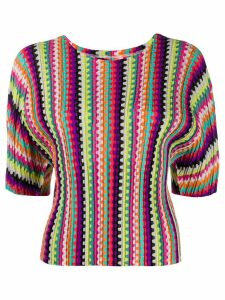 Pleats Please Issey Miyake knitted top - PINK