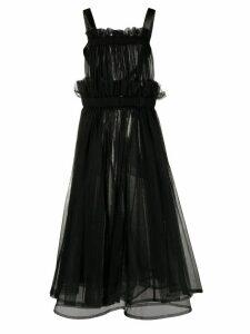 Comme Des Garçons Noir Kei Ninomiya ruffle-trimmed tulle top - Black