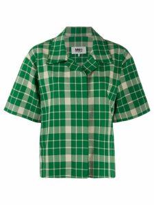 Mm6 Maison Margiela checked shirt - Green