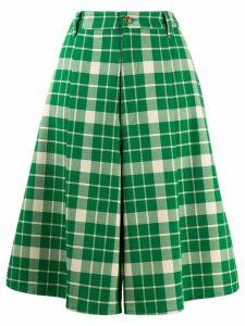 Mm6 Maison Margiela checked wide-leg shorts - Green
