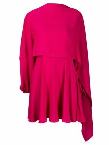 Valentino asymmetric layered georgette dress - PINK