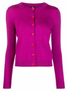 PS Paul Smith Lips embellished cardigan - PURPLE