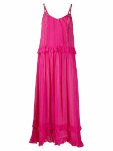 Twin-Set ruffle-trimmed maxi dress - PINK