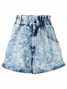 Isabel Marant Étoile Itea acid wash shorts - Blue