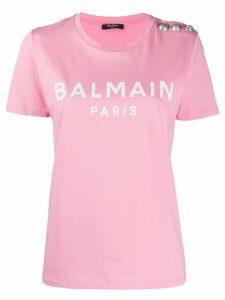 Balmain logo-printed T-shirt - PINK