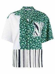 Neil Barrett mixed print oversized shirt - Green