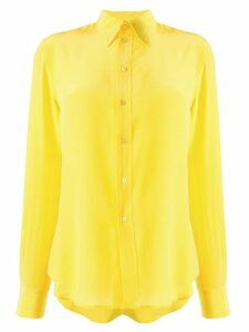 Ralph Lauren Collection silk pointed collar shirt - Yellow