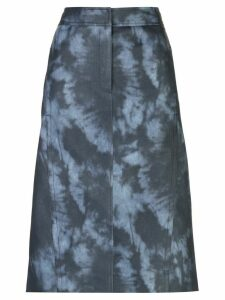 Tibi tie-dye pencil skirt - Blue
