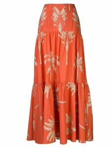 Johanna Ortiz floral print maxi skirt - Red