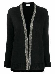Saint Laurent beaded wool-blend cardigan - Black