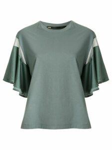 Muller Of Yoshiokubo fringed flare-sleeved t-shirt - Green