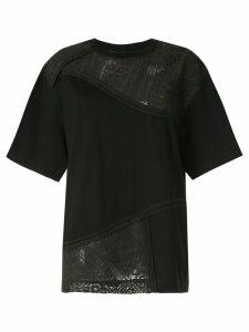Muller Of Yoshiokubo Vrou lace T-shirt - Black