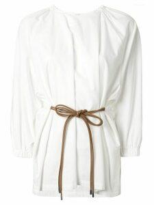 Muller Of Yoshiokubo plain tie-waist blouse - White