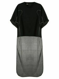 Muller Of Yoshiokubo short sleeve long back T-shirt - Black