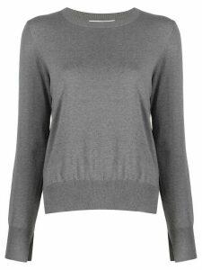 Enföld slit-hem pullover jumper - Grey