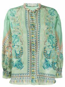 Etro paisley-print chiffon shirt - Green