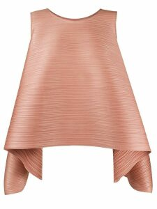 Pleats Please Issey Miyake micro-pleated structured tank top - PINK