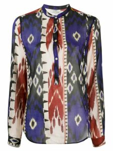 Forte Forte abstract print blouse - Blue