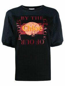 Chloé logo print T-shirt - Black