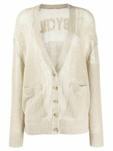 See by Chloé fine knit cardigan - NEUTRALS